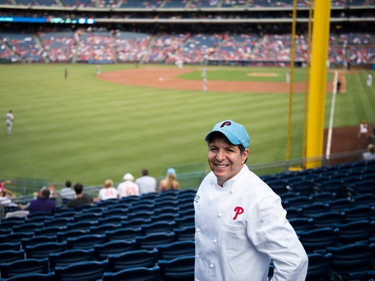 Aramark executive sous chef Anthony Campagna Wednesday, June 1 at Citizens Bank Park in Philadelphia.
