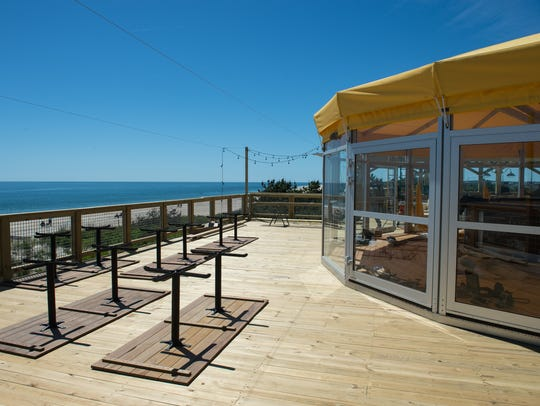 A view of the rooftop deck at the Big Chill Beach Club