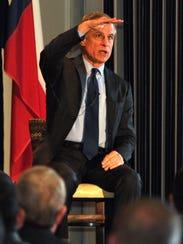 Keynote speaker Robert Kaplan answered questions Monday
