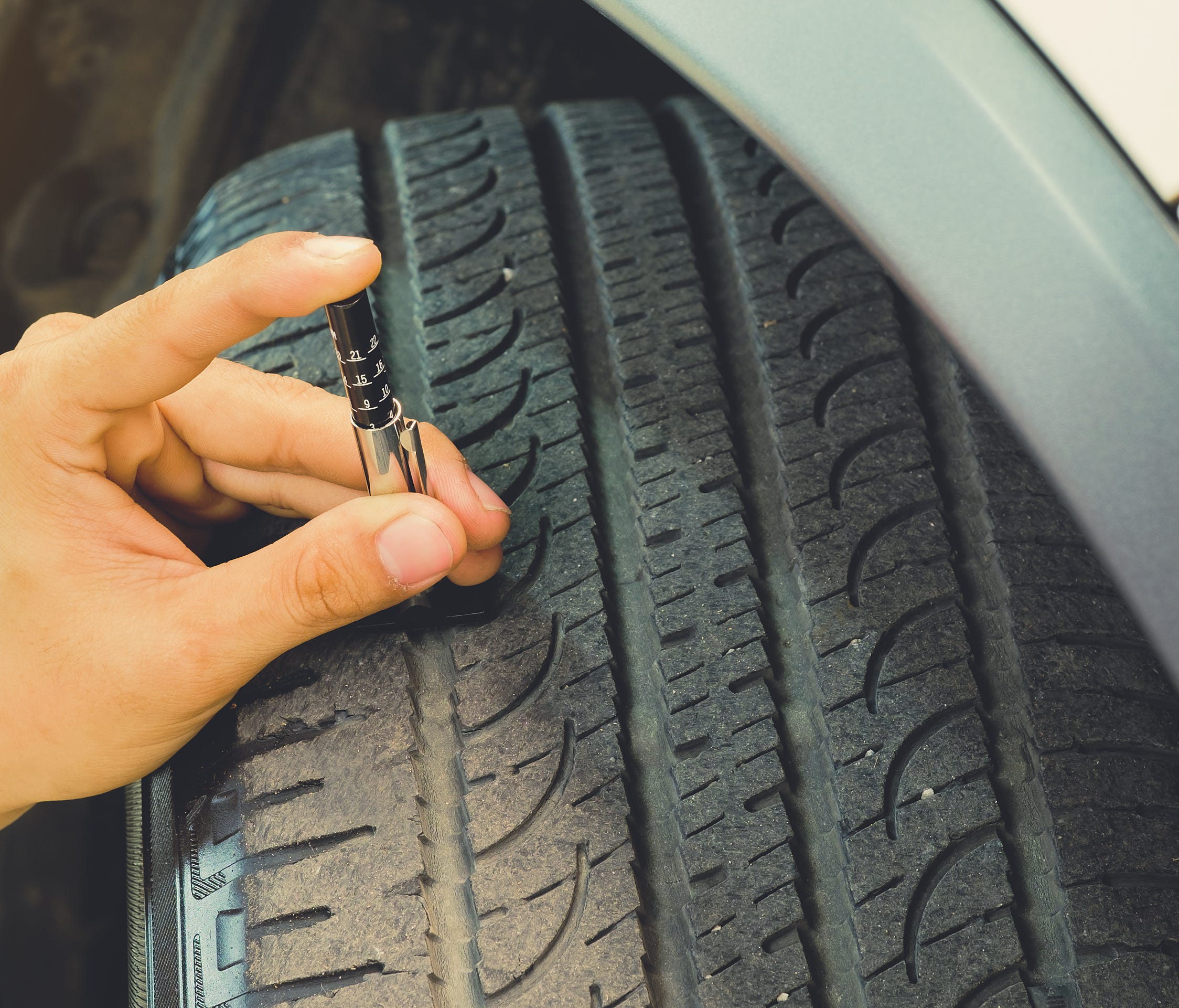 When was the last time you checked your tires' tread depth? You should do it before every road trip.