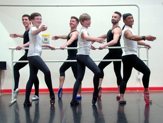 Guys Wearing Pointe Shoes
