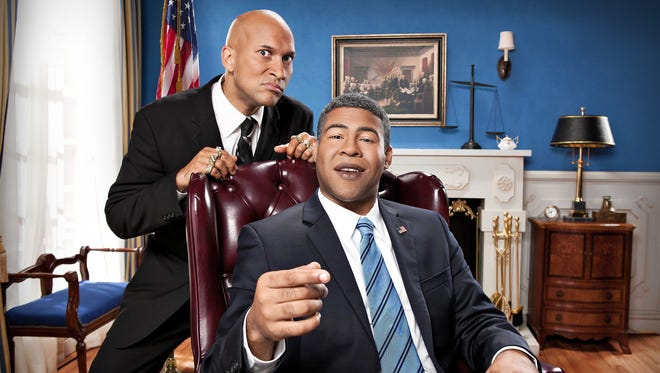 "Luther (Keegan-Michael Key) and Obama (Jordan Peele) return to review ""Keanu."""