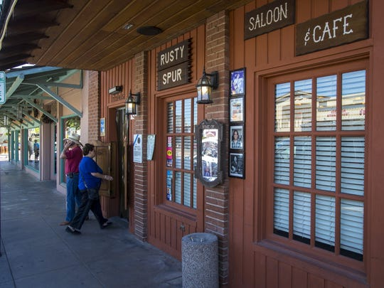 The Rusty Spur Saloon in Old Town Scottsdale, retains Scottsdale's Western spirit.