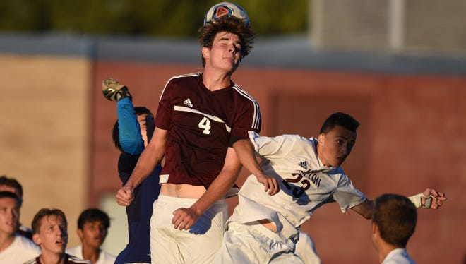 Kevin Salensky (23) scored both goals for Clifton in a 2-1 win over St. Peter's Prep.