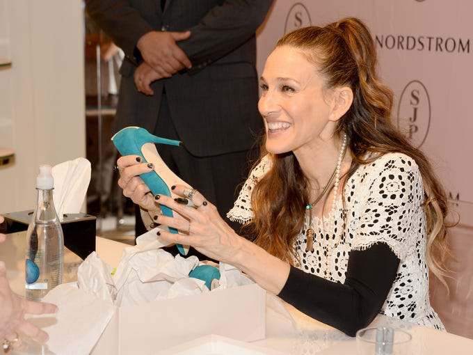 LOS ANGELES, CA - MARCH 06:  Sarah Jessica Parker presents The SJP Collection in Salon Shoes at Nordstrom in The Grove on March 6, 2014 in Los Angeles, California.  (Photo by Frazer Harrison/Getty Images)