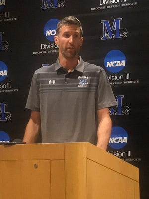 Drake Diener was introduced as the new men's basketball coach at Marian University on Monday.