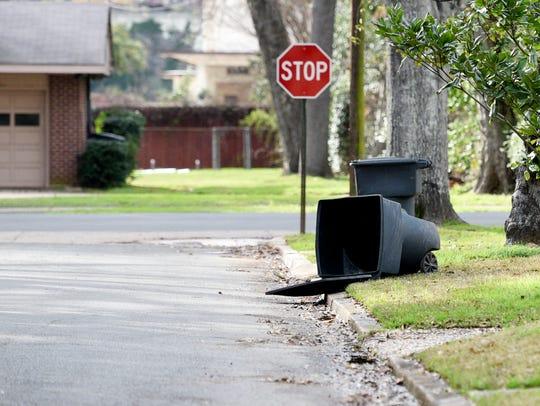 Trash bins in Shreveport.