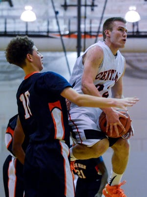 Central York's Jared Wagner, right, will be one of several featured players on display in the semifinal round of the York-Adams League Boys' Basketball Tournament on Tuesday night.