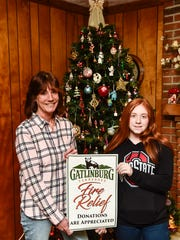Donna and Kristen Temple and their cousins in South Point are collecting donations to assist victims of the wildfires that devastated Gatlinburg, Tennessee, and the surrounding area.