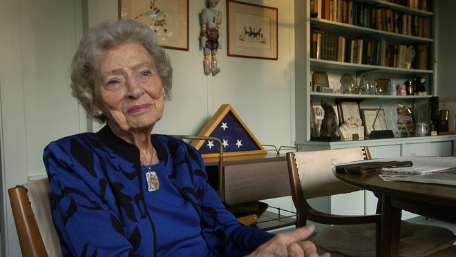 Former Cincinnati Charterite political maven Bobbie Sterne served in the Army Air Corps during WWII in Belgium, France and England. Here she is photographed Nov. 9, 2005.