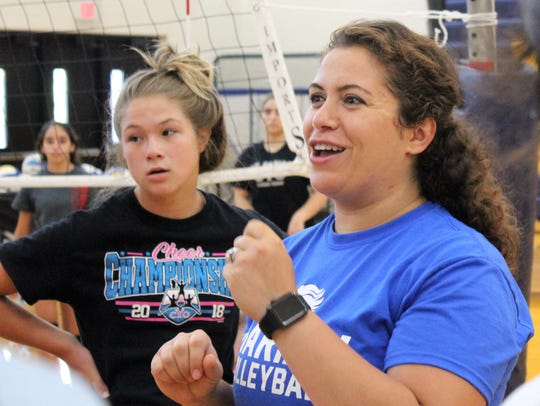 Marian's new volleyball head coach Mayssa Cook's passion