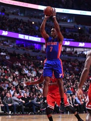 Mar 22, 2017; Chicago, IL, USA; Pistons forward Stanley