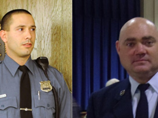 Millville officers Michael McLaughlin Jr. and Charles