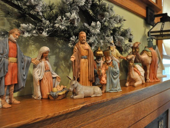 Several manger scenes are displayed at the home of Cindy and Rick Corley, which will be of the Abilene Woman's Club Holiday Tour of Homes on Dec. 2.