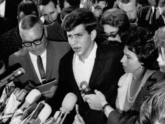 Frank Sinatra Jr. was kidnapped Dec. 8, 1963, from his Tahoe motel room.  Nevada Press Association
