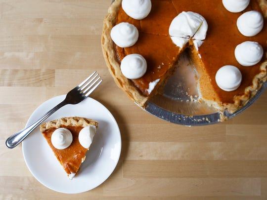 Lala's Blissful Bites' sweet potato pie has a light