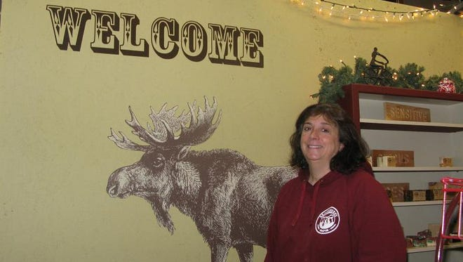 Mary Bartolotta is the owner of Mooseberry Soap (you get the connection with the wall art?) and the coordinator of the market.