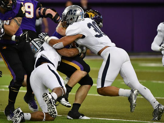 Northern Iowa scored on each of its first nine possessions against Monmouth in Saturday's 46-7 win.
