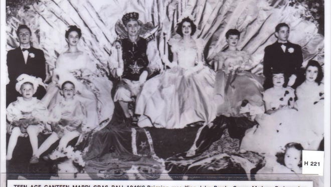 Teen canteen The Teenage Canteen Mardi Gras Ball in the 1940's featured King John Brock and Queen Marleen Rodemacher with Maid Elaine Chastant (left) and Maid Phyllis Brecktel Smith (right). The dukes are Daniel Butcher and Jimmy Saunders.