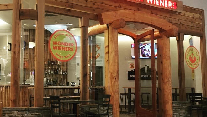 Cory Eden built his Battlefield Mall Wonder Weiners location with a Pacific Northwest design style. Eden is from Seattle.