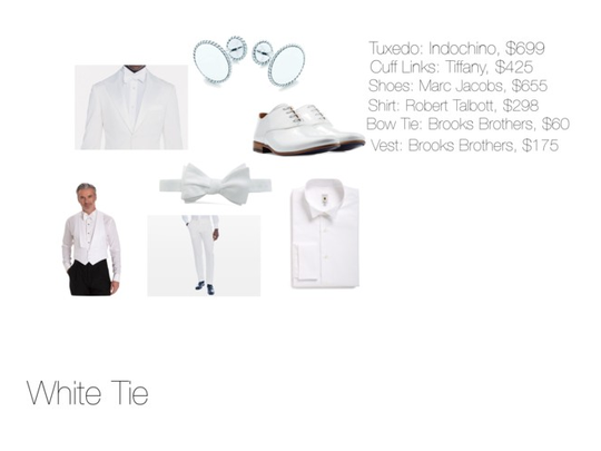 Dress Code: White Tie (men)