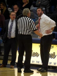 Both Lebanon coach Tim Speraw, right, and Cedar Crest
