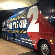 Bus used by attorney John Morgan as he travels around Florida rallying for Amendment 2 votes.