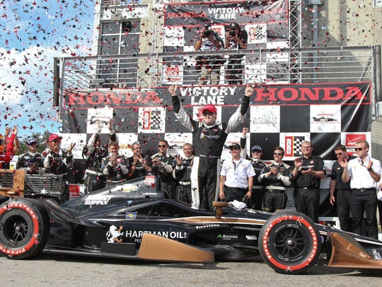 IndyCary Series Josef Newgarden (67) after winning