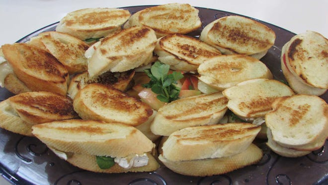 Grilled Brie, Apple & Watercress Sandwiches