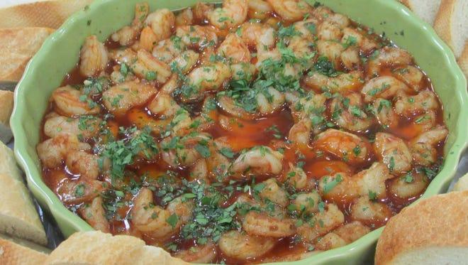 Sizzling Sherry Shrimp With Garlic.
