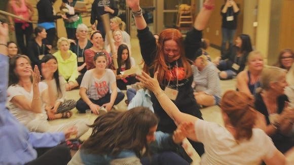 Women recharge at a Campowerment event.