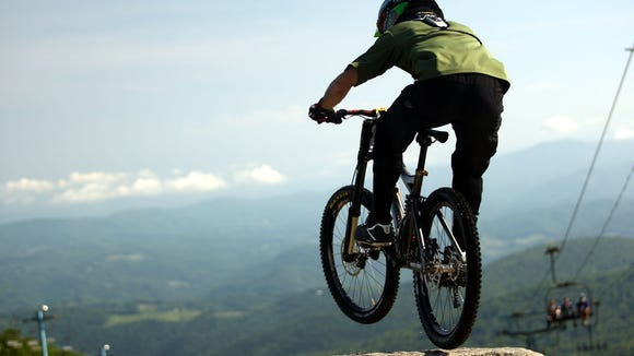 Gorges State Park is in the running to get funding for a gravity, downhill mountain bike trail, like this one at Beech Mountain.