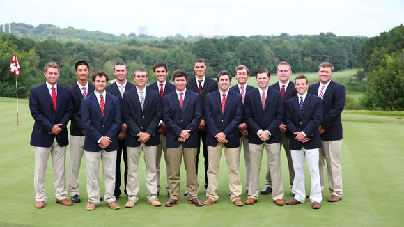 Tuscola alum Carter Page (back row, fourth from the left) recently completed his junior season for the N.C. State golf team.
