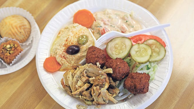 The Middle East Plate is a popular menu item at Pita House.