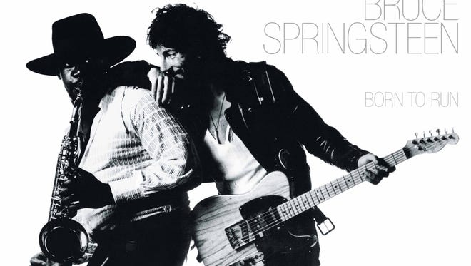 Clarence Clemons and Bruce Springsteen on the cover of 'Born to Run.'