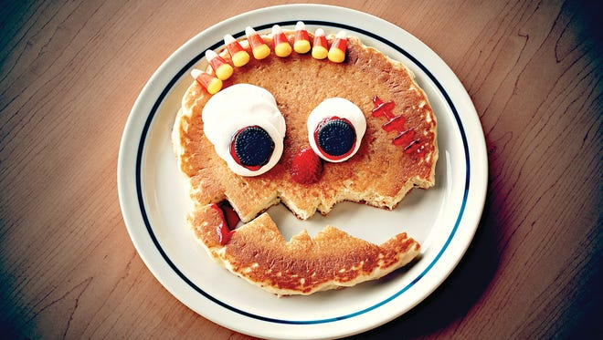 IHOP is offering free scary face pancakes as a Halloween special for children.