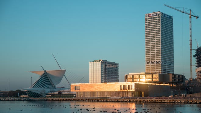 The museum is on prime real estate, overlooking Lake Michigan in downtown Milwaukee.