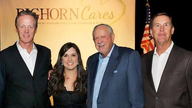 BIGHORN Cares Chairman Joe Kirby with BIGHORN Charities Manager Danielle Ortega, BIGHORN Chairman R.D. Hubbard and Director Ed Burger.