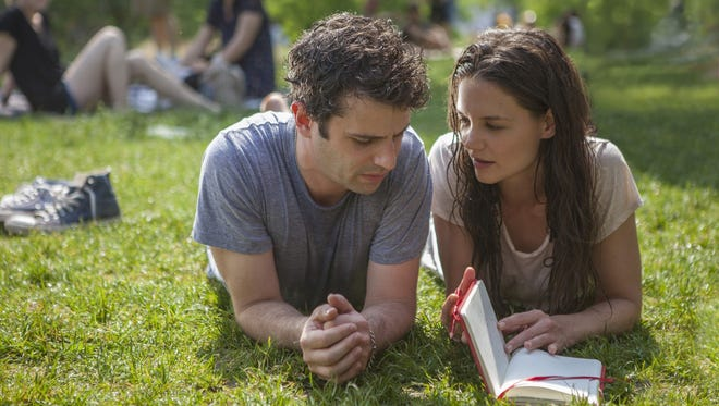 "Luke Kirby and Katie Holmes are compelling as two lovers with bipolar disorder in ""touched with Fire."""