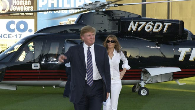 Donald Trump and his wife Melania visited TD Bank Ballpark in Bridgewater by helicopter in 2004.