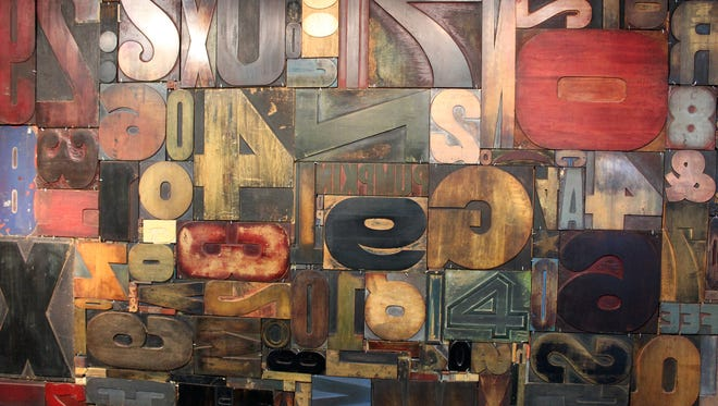 This wall of wood type was erected for a Target merchandise promotion.