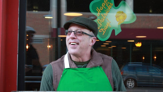 Timothy Suprise, owner of Arcadia Brewing Company, has been cooking his Corned Beef Hash for 20 years outside downtown Battle Creek on St. Patrick's Day