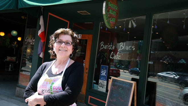 Maryann Angelo, owner of Barista Blues Cafe in downtown Battle Creek, is one of the recipients of the George Award this year. Angelo often hosts fundraisers and donation drives for area organizations, as well as a free annual meal for the community.