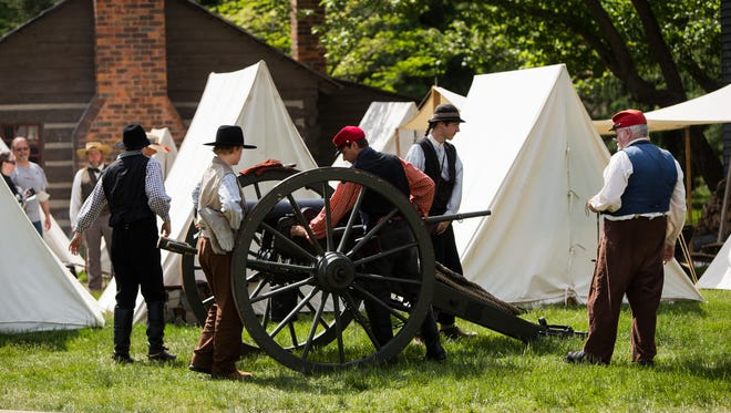 Greenfield Village in Dearborn hosts its annual Civil War Remembrance event during Memorial Day Weekend.