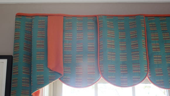 Detail of the window treatments.