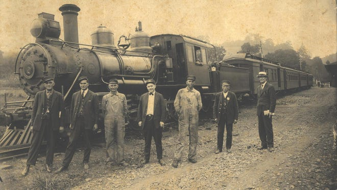 """The Boone Stations on the East Tennessee and Western North Carolina Railroad (ET&WNC) also called the """"Tweetsie Railroad,"""" in 1923."""