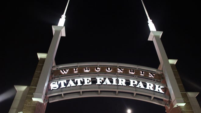 Wisconsin State Fair main gate.
