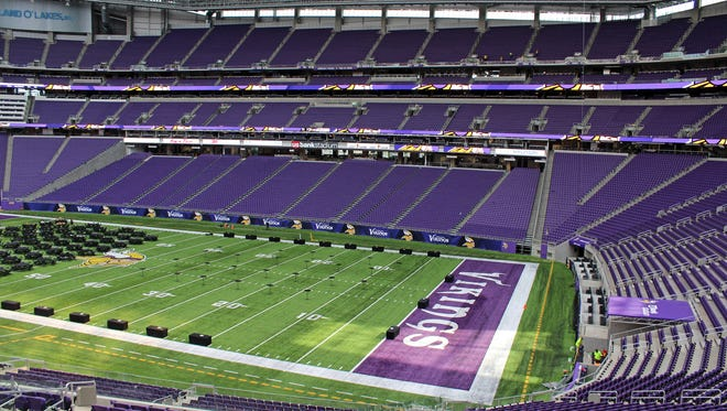 The new U.S. Bank Stadium field in Minneapolis already is being used for events other than sports.