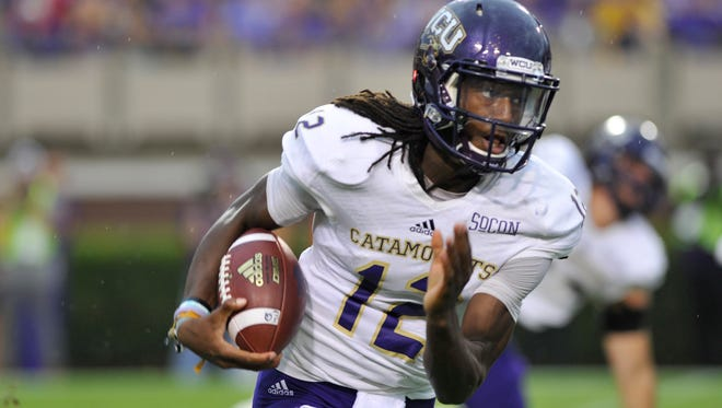 Tyrie Adams had 510 yards of total offense for Western Carolinaa Saturday night.