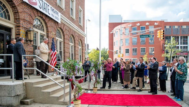 The State Theatre's ribbon-cutting event, which took place on Sept. 9, was attended by a crowd of people from the arts, local businesses, community groups and local government officials.